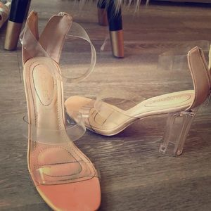 Fashion nova clear heels